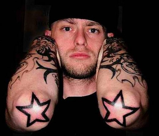 star tattoo for men