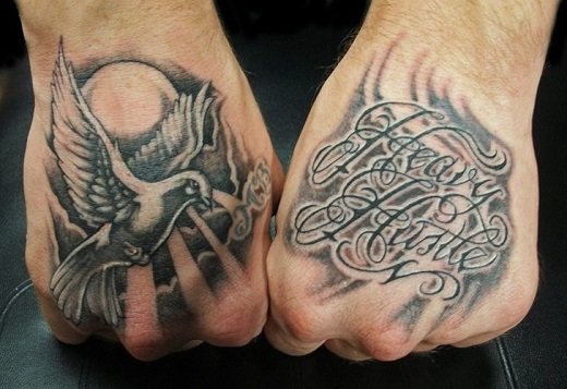 Amazing Hand Bird Tattoo for Men