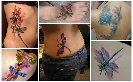 Sexy Dragonfly Tattoo Designs