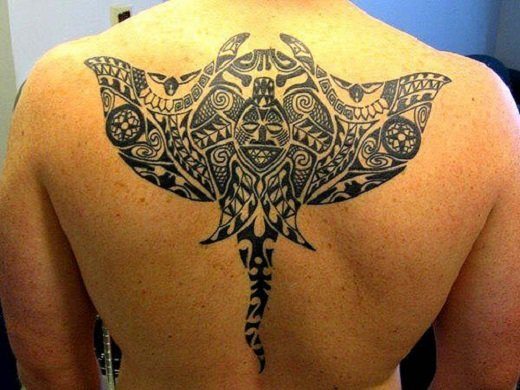 amazing stingray tattoo